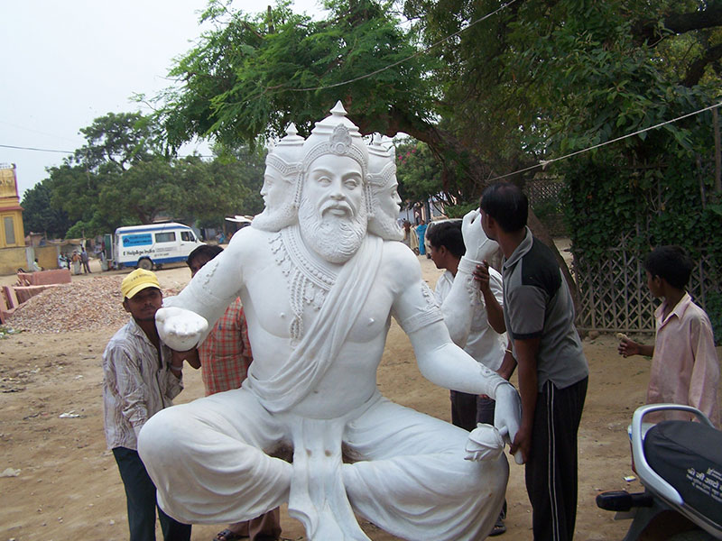 Installation of Lord Brahma statue