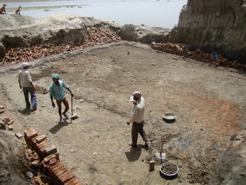 Koiley Ghat during restoration