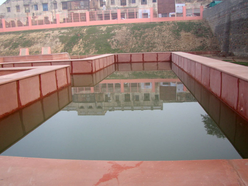 Rudra Kund during restoration