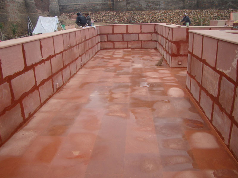 Cleaning & Maintenance of Rudra Kund after stone cladding