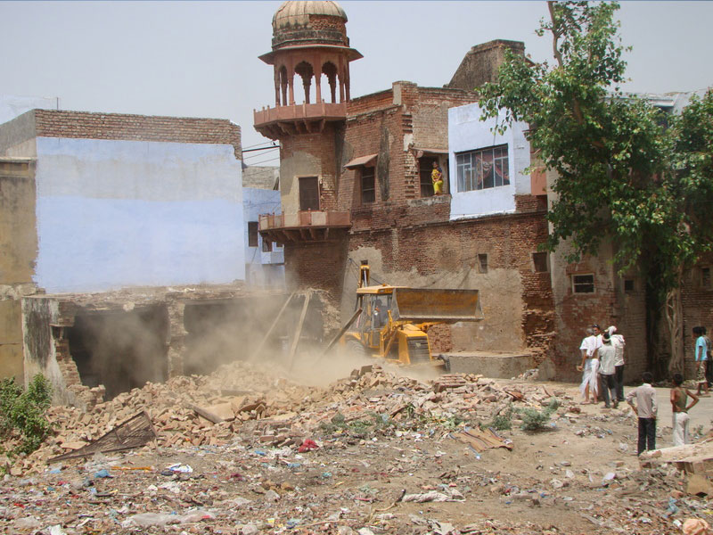 Demolitions of encroachaments at Rudra Kund