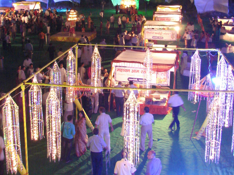 Traditional food stalls of Braj at Braj Mahotsav Lucknow