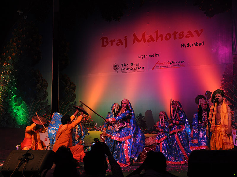Folk artists performing at Braj Mahotsav Hyderabad