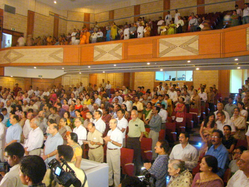 Audience appreciating Braj Mahotsav at the Lalit Kala Academy, Lucknow