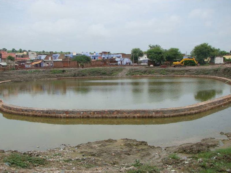 Sankarshan Kund after completion of toe wall