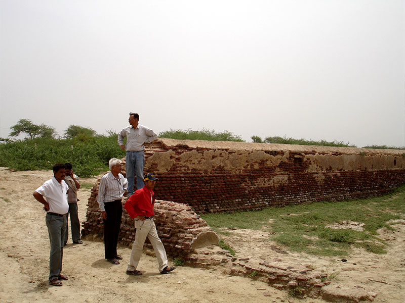 Braj Foundation's team on inspection