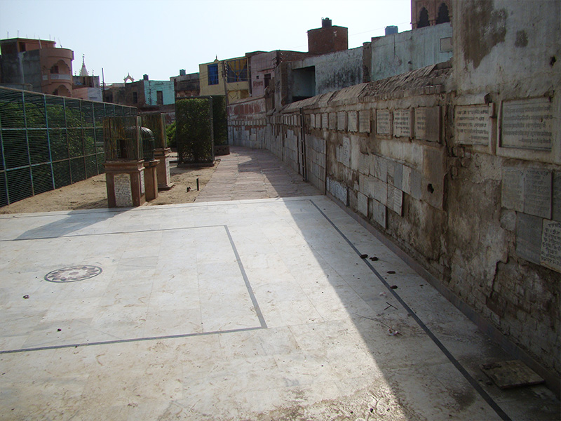 Seva Kunj Parikrama path before restoration