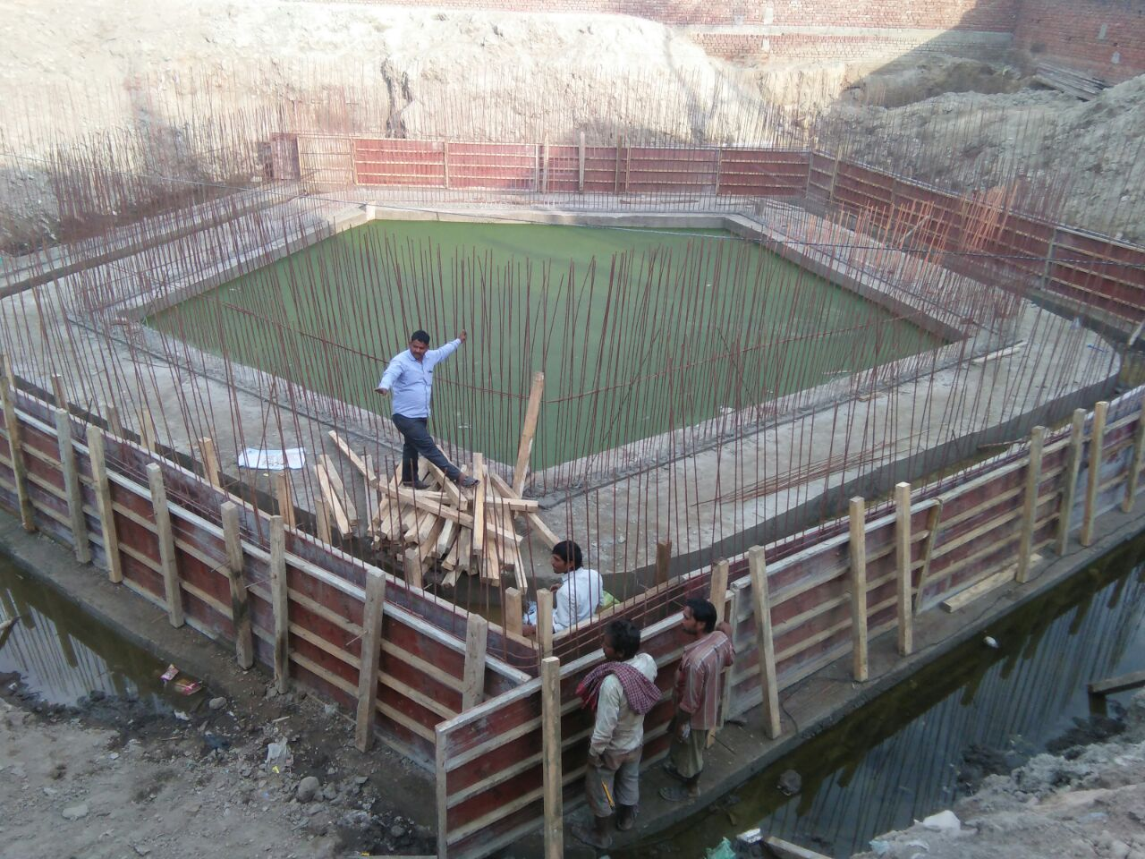 Rinmochan Kund taking shape