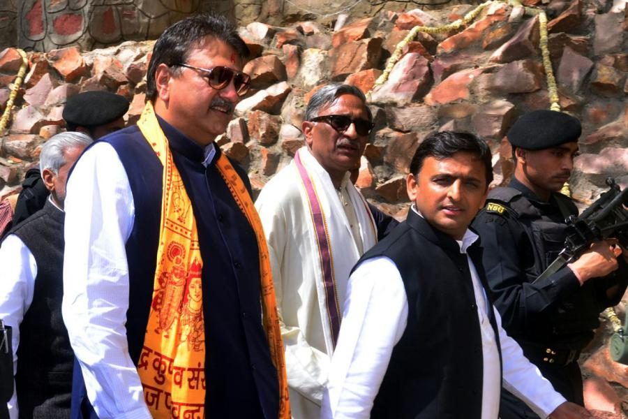 Sh. Ajay Piramal, Sh. Akhilesh Yadav and Sh. Vineet Narain at Rudra Kund