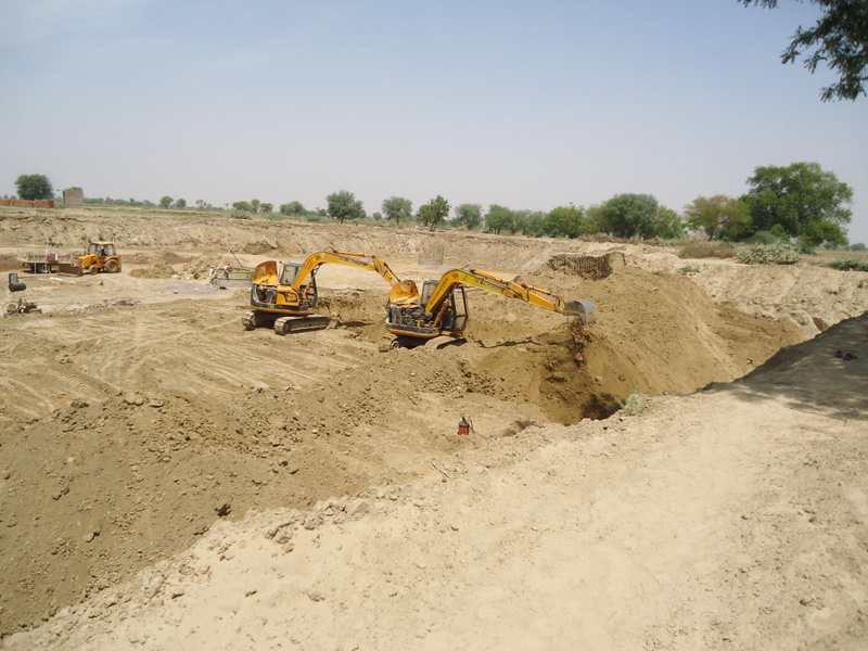 Ram Taal during desilting