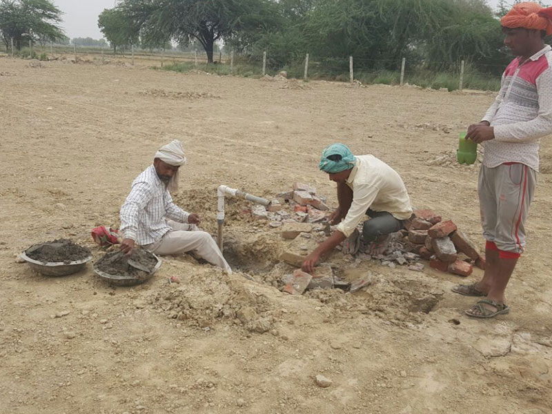 Drip irrigation hydrants being made at Brahma Jhadi