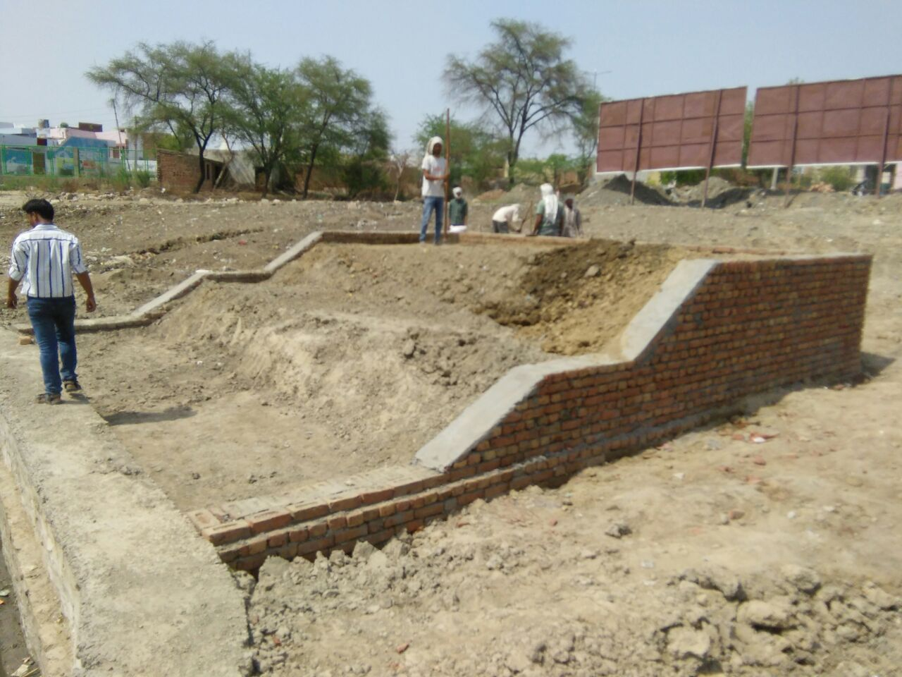 Construction of Ghat