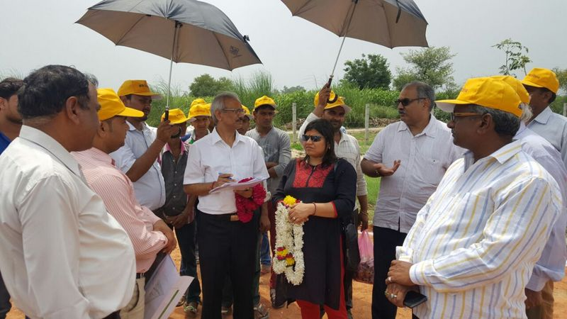 NTPC Officials at the site