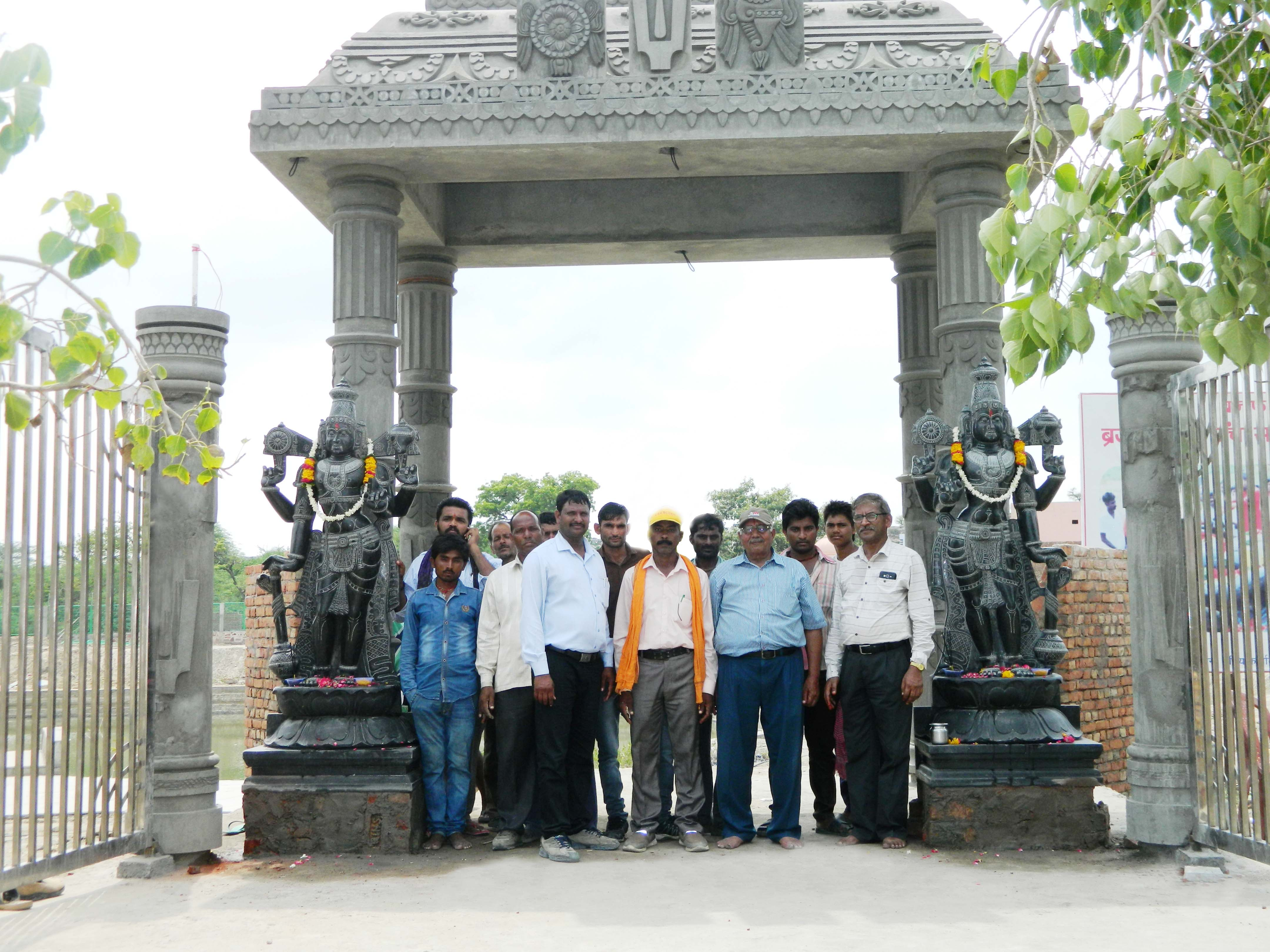 TBF team after the installation of Jay Vijay statues